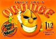 Juicy Jay's Orange Rolling Paper, Roll a Joint with Juicy Jay's Orange